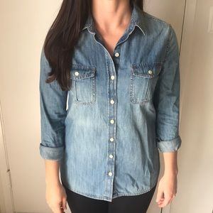 Mossimo Supply Co. Jean Button-down Shirt